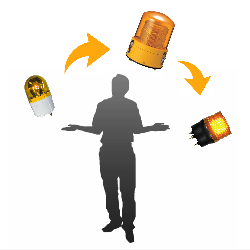 回転灯キセノン灯フラッシュ灯の違い