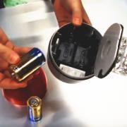 マグネット付回転灯電池式