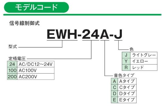 EWH型モデルコード