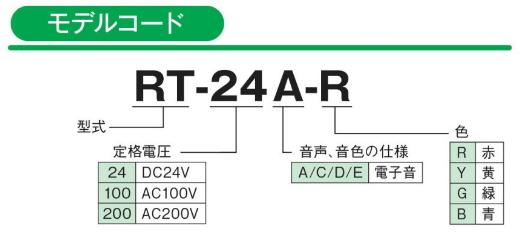 パトライトRT型モデルコード